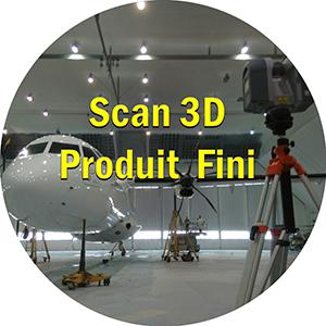 Scan 3d numerisation 3d avion