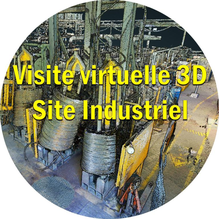 visite virtuelle 3d site industriel